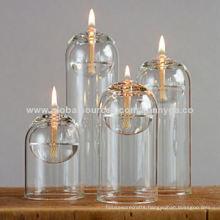 Unique Design Borosilicate Glass Oil Lamp with Different Size Series
