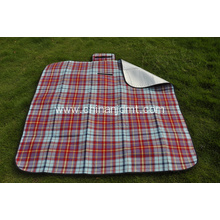 Check Picnic Blanket with Aluminum