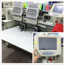 Computerized 2 head 9 colors Flat embroidery machine price