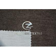 Poli veludo colado com tecido de malha para uso em cortina e sofá