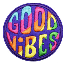 Custom Badge Embroidery Patch Iron On Patch Applique For Clothing