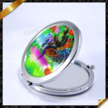 Peacock Pattern Imitation Shell Mirror, Fashion Jewelry Supplier (MW018)