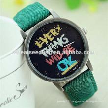 Wholesale purchase fashion trendy vintage jeans band unisex impress watch