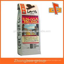 Moisture prova reciclar café sacos de embalagem / sacos de embalagem de grãos de café
