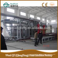 Ligne de production de la presse à chaud HPL / ligne de production de la machine à pression haute pression / formica