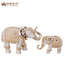 La figure de la résine caractéristique régionale d'éléphants indiens en gros pour décor de maison et de bureau
