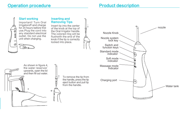 oral irrigator use