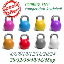 Malerei St14 Stahl Hollow Wettbewerb Kettlebell mit Edelstahl Griff