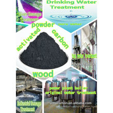 Wood carbon powder for water pump