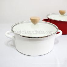 Olla de cocinar al por mayor 5pcs del cookware del esmalte de encargo