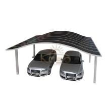 Foto Carport curvo de telhado de metal