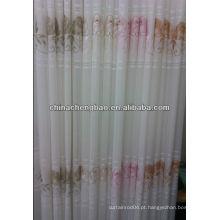 2013 novo design bordado cortinas puras