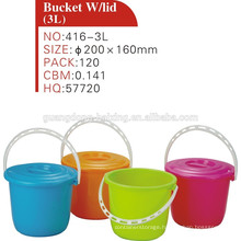 wholesale small plastic buckets with lids and handle