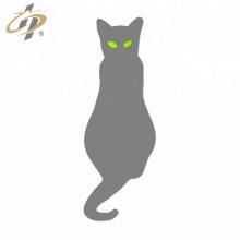 Custom silver enamel cat lapel pin