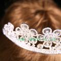 Прекрасный цветочный дизайн Tiara Bridal Rhinestone Crown