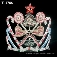 Wholesale colored crystal whole set christmas pageant crowns