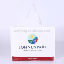 Poliéster tecido laminado relativo à promoção relativo à promoção reusável da sacola da compra do polipropileno para o supermercado