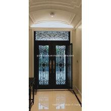 Porte en verre de fer avec fenêtre utilisable