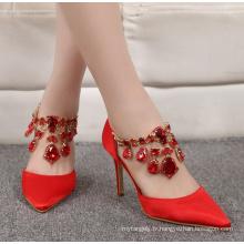 High Heel Glitter Drill Femme Chaussures