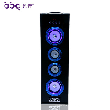 36W 3000mAh Wooden Radio Bluetooth Outdoor karaoke soundbar dj bass speaker