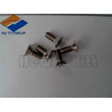 high strength Gr5 titanium flat bolt M4*8