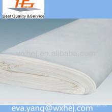 Vente directe d'usine blanc polycotton drap de lit / vente de tissu de lin