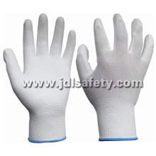 White ESD Work Glove with PU (PC8112)