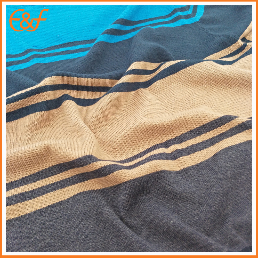 Mens sweater stripe fabric