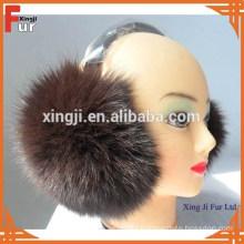 Top quality real fox fur earmuff