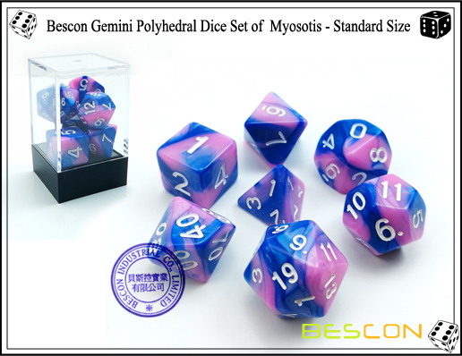 Bescon Gemini Dice Set of Myosotis-1