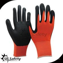 SRSAFETY sandy nitrile palm dipped/safety gloves/work gloves