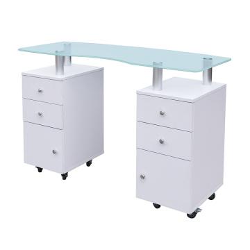 Table de manucure GLASS GLOW Table à ongles de salon