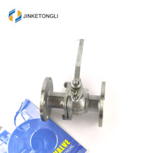 JKTLFB018 ferro fundido cf8m 1000wog 2 peças flange de água 16 válvula de esfera