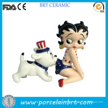 Betty Boop Funny Dog Salt and Pepper Shakers