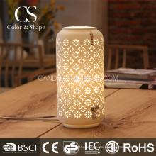 Lámparas de mesa de cerámica de la flor de la forma del florero chino del precio de fábrica