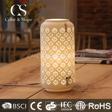 Factory price chinese vase shape flower ceramic table lamps
