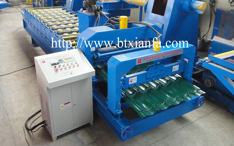glaze tile roof sheet machine