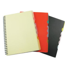 Black PP Cover Spiral Notebook A5 Address Book