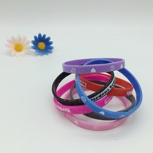 3/4 Inch Sparkle Silicone Bracelets