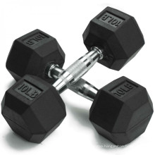 Gym Weight Lifting Training Hex Rubber Dumbbells Set