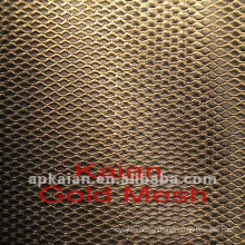300mm gold expanded metal mesh