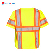 Most competitive high quality new arrival reflective straps vest safety mesh vest with zipper