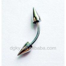 Joyería de acero inoxidable joyería anillo de espiral anillo
