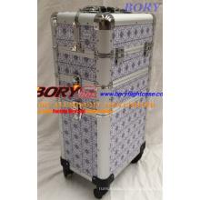 Портативный чемодан на колесиках Косметичка