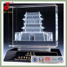 3D Laser Engraved Crystal Cube for Home Decoration