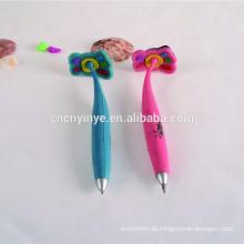 Fuß Form ausgefallene kundenspezifische Logos Weichgummi Stift