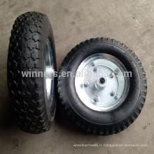 4.10 / 3.50-6 roues pneumatiques en caoutchouc pour chariot de jardin de wagon