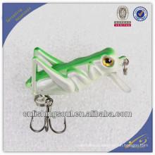 CKL019 4 cm gafanhoto iscas duras manivela isca de pesca 3d longo plástico duro manivela isca de pesca isca
