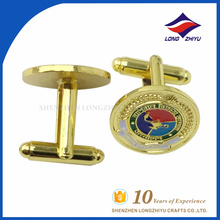 Hot sale delicate custom round cufflinks for clothes