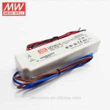 Buena calidad 6 w 150 w caja de plástico UL CE ROHS 12 voltios led conductor 60 w LPV-60-12